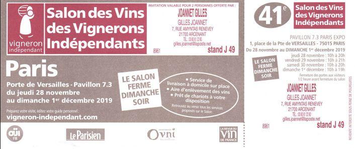 Gilles joannet artisan liquoriste arcenant for Salon etudiant porte de versailles 2016